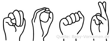 Noar im Fingeralphabet der Deutschen Gebärdensprache