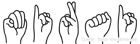 Mirai im Fingeralphabet der Deutschen Gebärdensprache