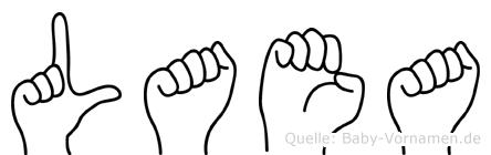 Laea in Fingersprache für Gehörlose