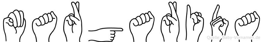 Margarida im Fingeralphabet der Deutschen Gebärdensprache