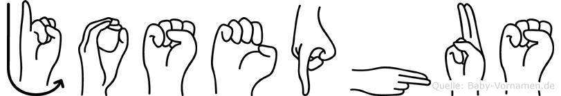 Josephus im Fingeralphabet der Deutschen Gebärdensprache