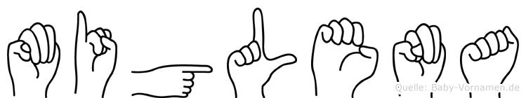Miglena im Fingeralphabet der Deutschen Gebärdensprache
