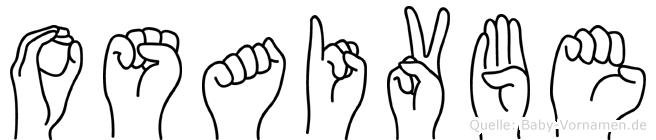 Osaivbe im Fingeralphabet der Deutschen Gebärdensprache