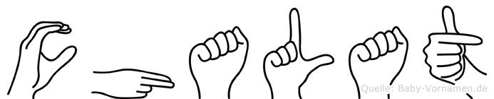 Chalat im Fingeralphabet der Deutschen Gebärdensprache