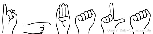 Igbala im Fingeralphabet der Deutschen Gebärdensprache