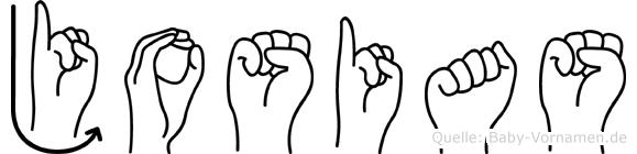Josias im Fingeralphabet der Deutschen Gebärdensprache