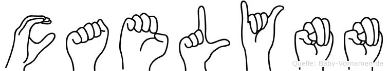 Caelynn im Fingeralphabet der Deutschen Gebärdensprache