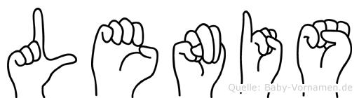 Lenis in Fingersprache für Gehörlose