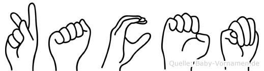 Kacem im Fingeralphabet der Deutschen Gebärdensprache