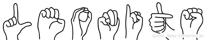 Leonits im Fingeralphabet der Deutschen Gebärdensprache