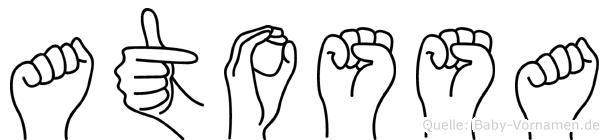 Atossa in Fingersprache für Gehörlose