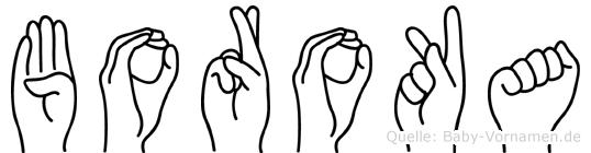 Boroka in Fingersprache für Gehörlose