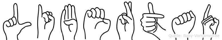 Libertad in Fingersprache für Gehörlose