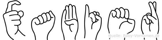 Xabier in Fingersprache für Gehörlose
