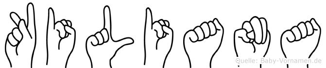 Kiliana im Fingeralphabet der Deutschen Gebärdensprache
