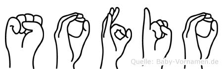 Sofio im Fingeralphabet der Deutschen Gebärdensprache