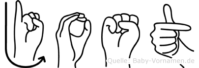 Jost im Fingeralphabet der Deutschen Gebärdensprache