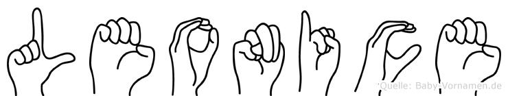 Leonice im Fingeralphabet der Deutschen Gebärdensprache