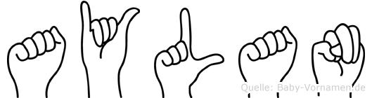 Aylan im Fingeralphabet der Deutschen Gebärdensprache