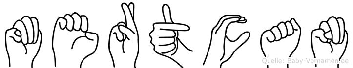Mertcan im Fingeralphabet der Deutschen Gebärdensprache