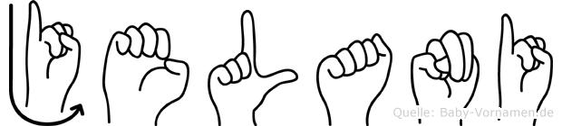 Jelani in Fingersprache für Gehörlose