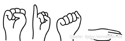 Siah in Fingersprache für Gehörlose