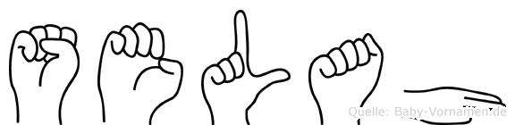 Selah im Fingeralphabet der Deutschen Gebärdensprache