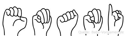 Emani im Fingeralphabet der Deutschen Gebärdensprache