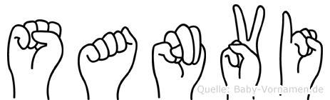 Sanvi im Fingeralphabet der Deutschen Gebärdensprache