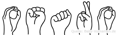 Osaro im Fingeralphabet der Deutschen Gebärdensprache