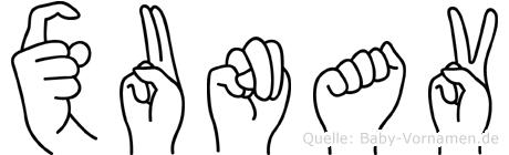 Xunav in Fingersprache für Gehörlose