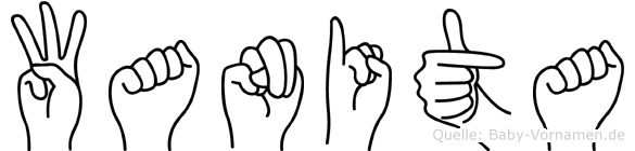 Wanita in Fingersprache für Gehörlose