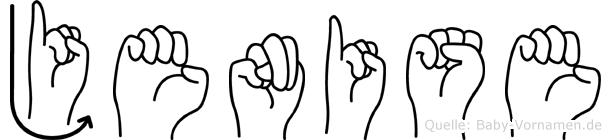 Jenise im Fingeralphabet der Deutschen Gebärdensprache