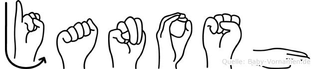 Janosh in Fingersprache für Gehörlose