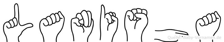 Lanisha im Fingeralphabet der Deutschen Gebärdensprache
