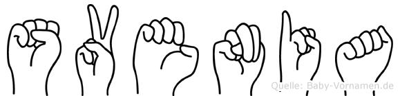 Svenia in Fingersprache für Gehörlose