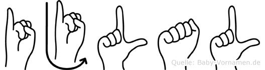 Ijlal im Fingeralphabet der Deutschen Gebärdensprache