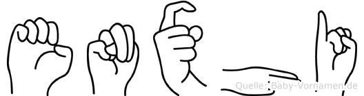 Enxhi im Fingeralphabet der Deutschen Gebärdensprache