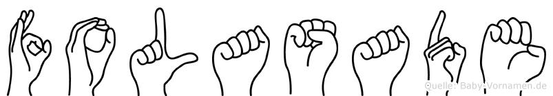 Folasade im Fingeralphabet der Deutschen Gebärdensprache