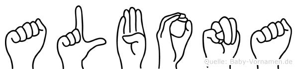 Albona in Fingersprache für Gehörlose