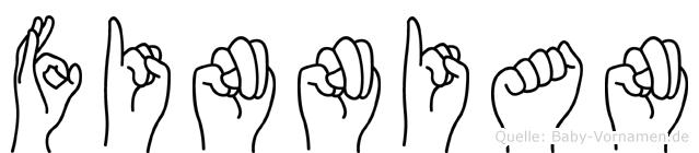 Finnian im Fingeralphabet der Deutschen Gebärdensprache