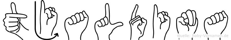 Tjaldina in Fingersprache für Gehörlose