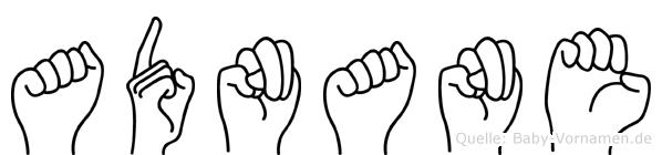 Adnane im Fingeralphabet der Deutschen Gebärdensprache