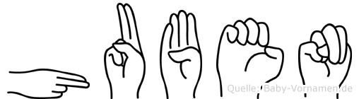 Huben in Fingersprache für Gehörlose
