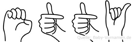 Etty in Fingersprache für Gehörlose