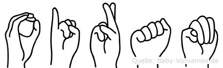 Oiram im Fingeralphabet der Deutschen Gebärdensprache