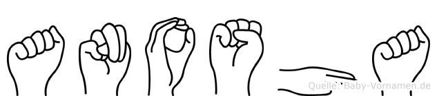 Anosha in Fingersprache für Gehörlose