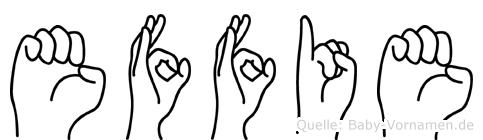 Effie in Fingersprache für Gehörlose