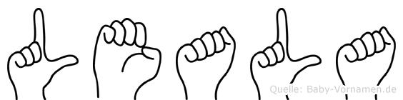 Leala in Fingersprache für Gehörlose
