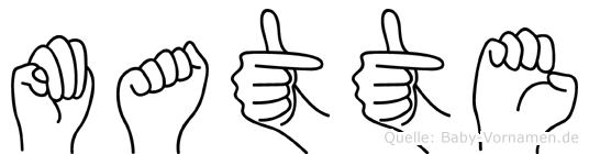 Matte in Fingersprache für Gehörlose